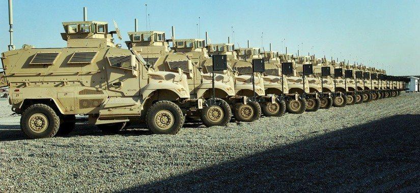 Mine resistant ambush trucks