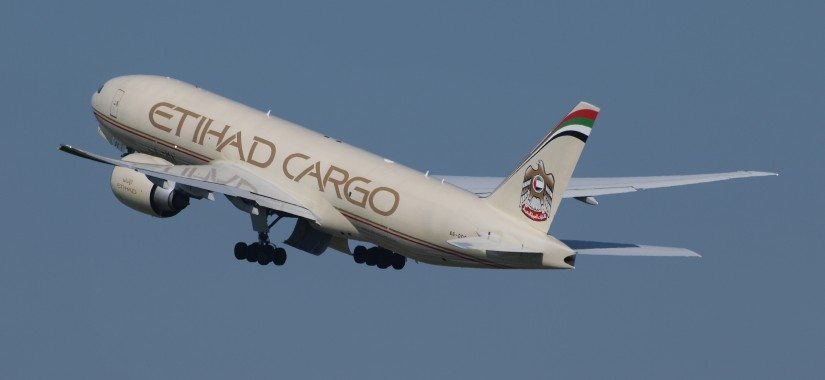 An Etihad Airways Cargo freighter