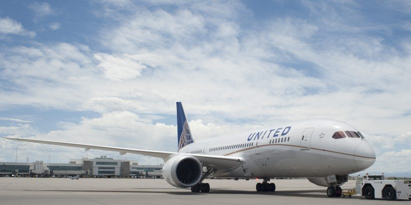 A United Airlines B787