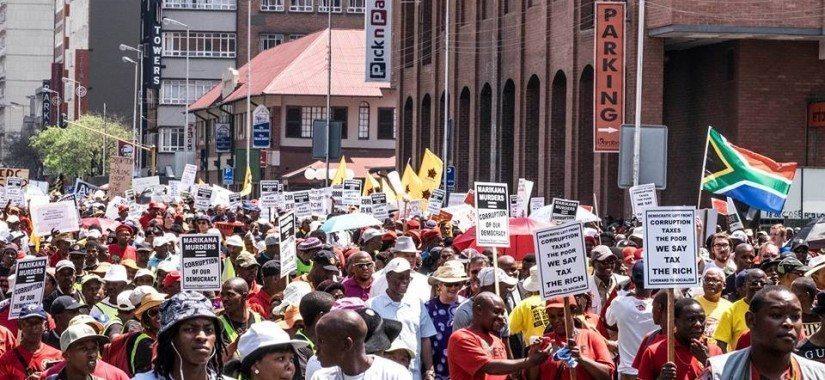 Pretoria's Unite Against Corruption March on 30 September. Photo: Shayne Robinson — at The Union Buildings, Pretoria & Parliament, Cape Town