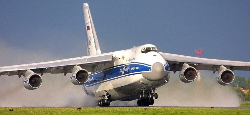 A Volga-Dnepr Airlines An-124 freighter