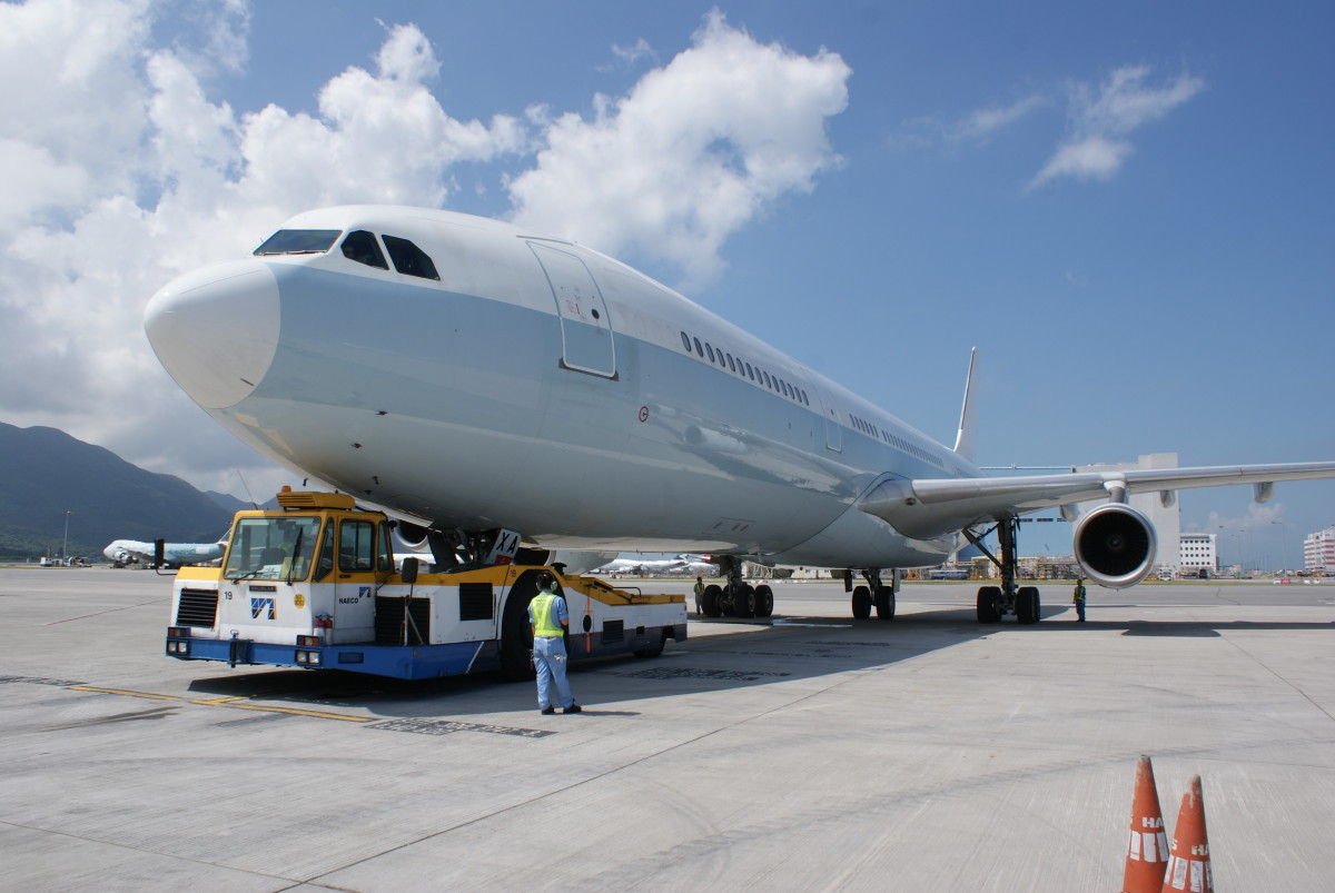 One of Cathay Pacific's A340s, which will be recycled