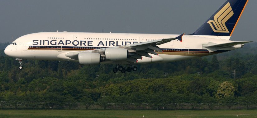 A Singapore Airlines A380, flying through a difficult first part of 2015