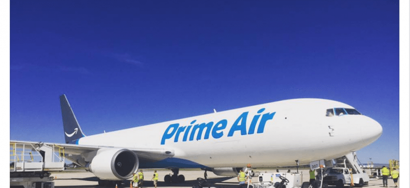 Amazon send cargo high in Lehigh Pennsylvania