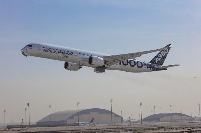 Qatar welcomes first A350-1000 test aircraft