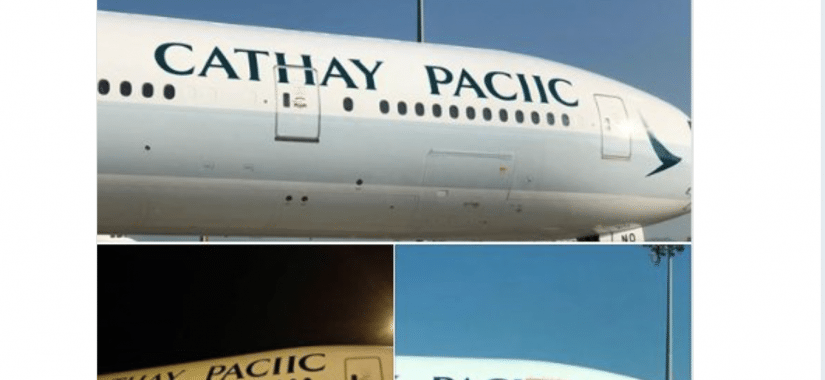 Don't print my name upside down: A Cathay Pacific tweet admission