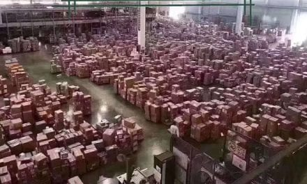 How many fake face-masks are in this Chinese warehouse?