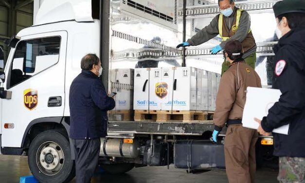 UPS plays a key role in South Korea's vaccine roll-out